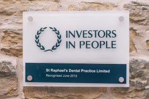 Our recognition: St Raphael's Dental Practice was recognised by Investors in People in 2012